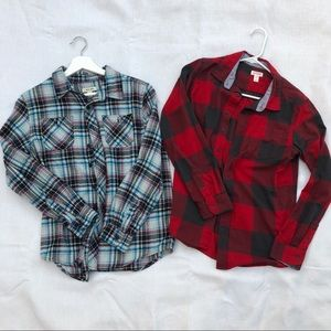 Other - 2 plaid flanels for boys
